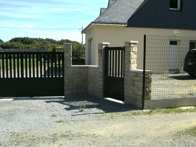 terrasse veranda muret cl ture dalle maconnerie. Black Bedroom Furniture Sets. Home Design Ideas