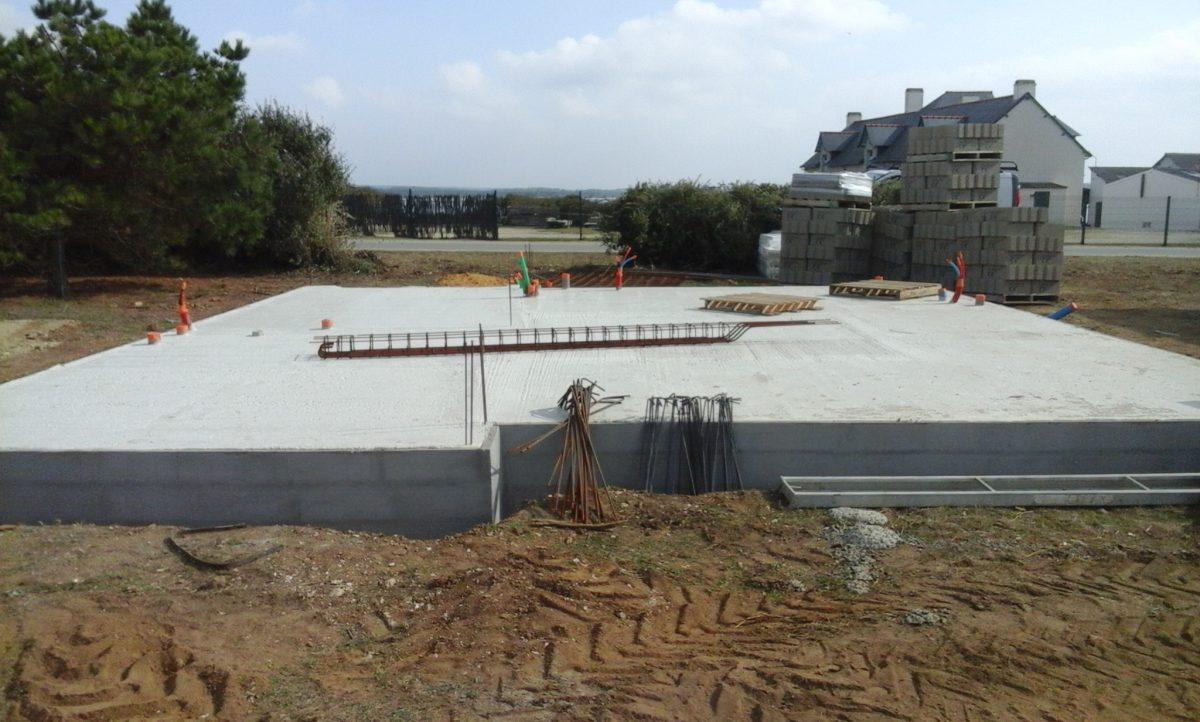 Construction maison neuve ma onnerie neuve morbihan 56 for Dalle sur terre plein