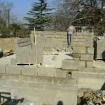 Montage des murs Maison Neuve en Parpaings - Penestin - Morbihan 56