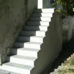 Escalier en Béton avec pose de dalles à Penestin