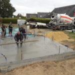 Coulage de la dalle béton L'immaculée - Loire-Atlantique - 44-